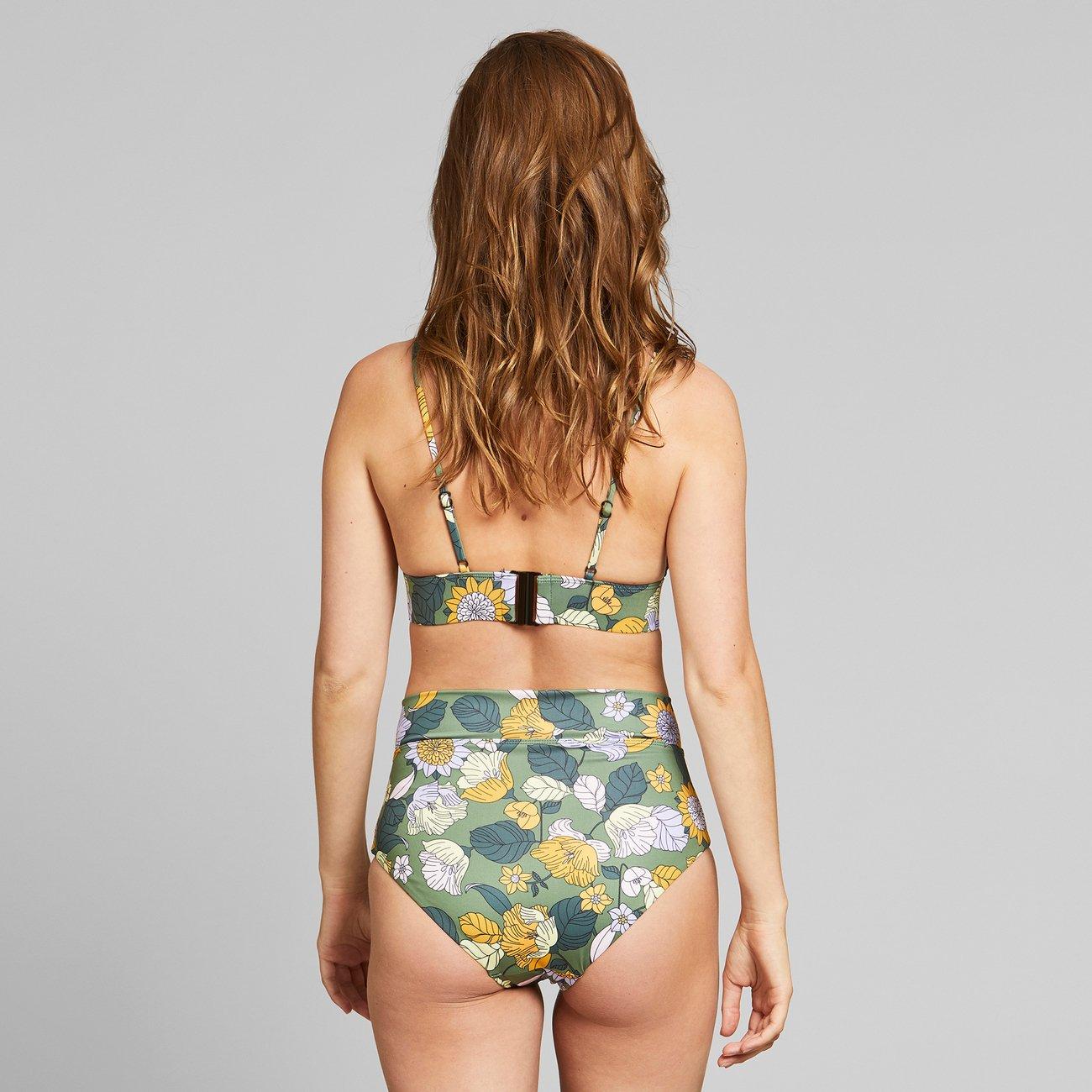 Dedicated - Bikini Pants Slite Seventies Floral Green