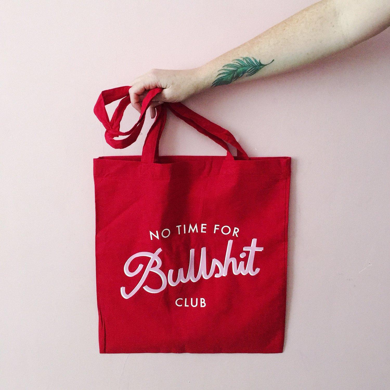 Tygkasse - No time for bullshit club
