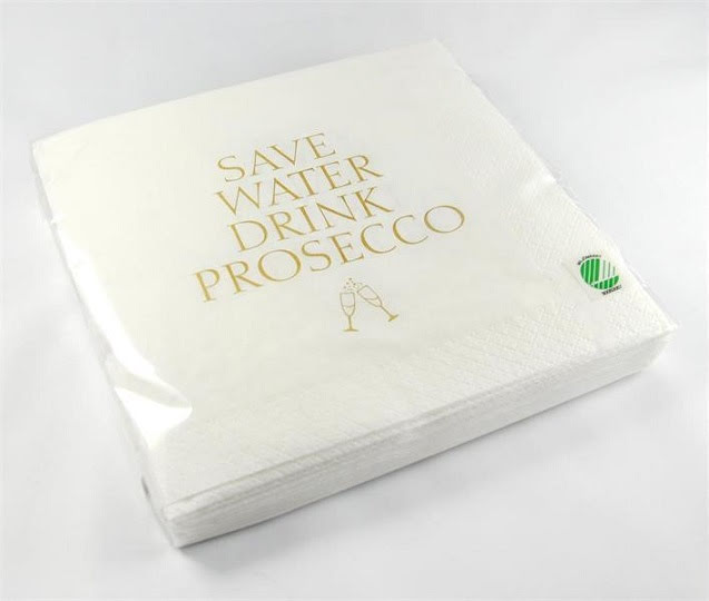 Mellow Design - Servett Save water drink prosecco