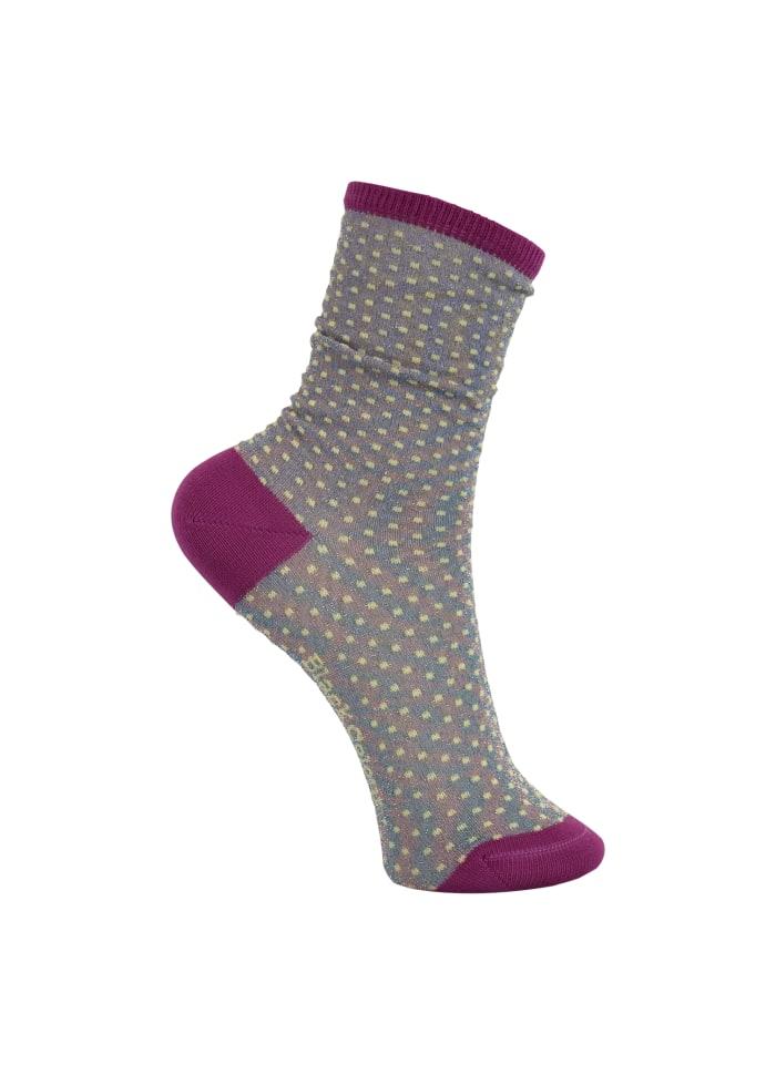 Black Colour - DIDI lurex sock lavender