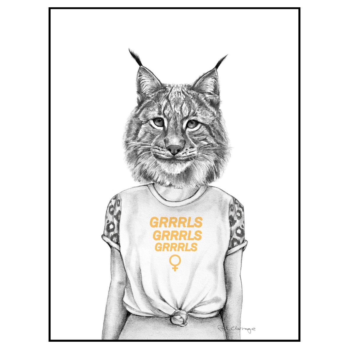 Frida Clerhage - Poster Grrrls A5