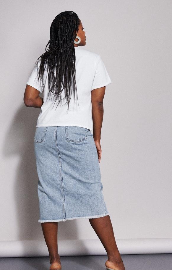 Catwalk Junkie - Skirt Jean Blue Sky