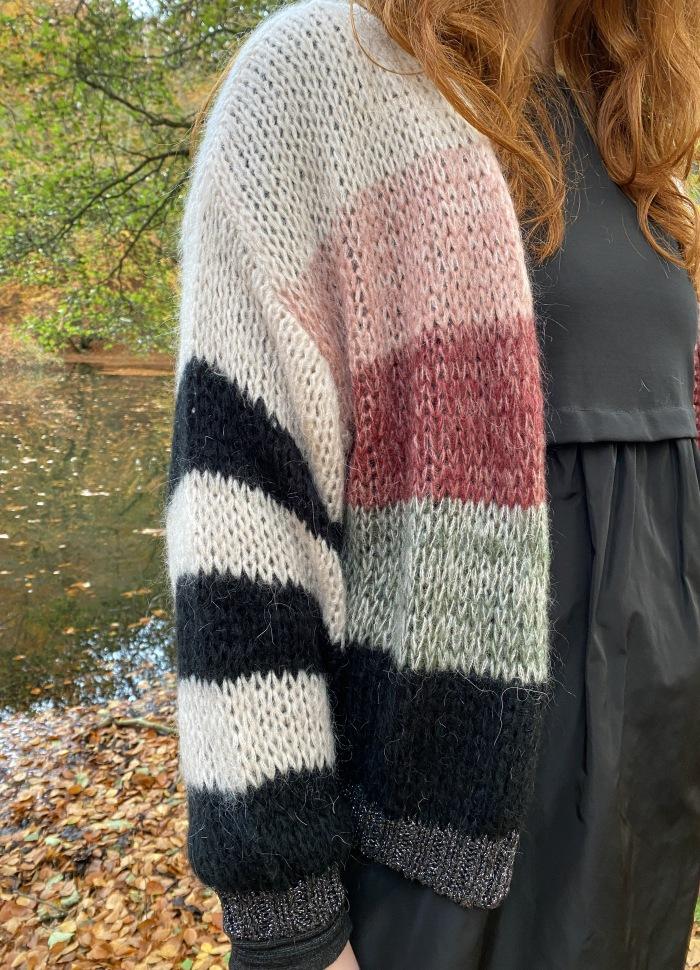 Black Colour - FILIPPA striped cardigan