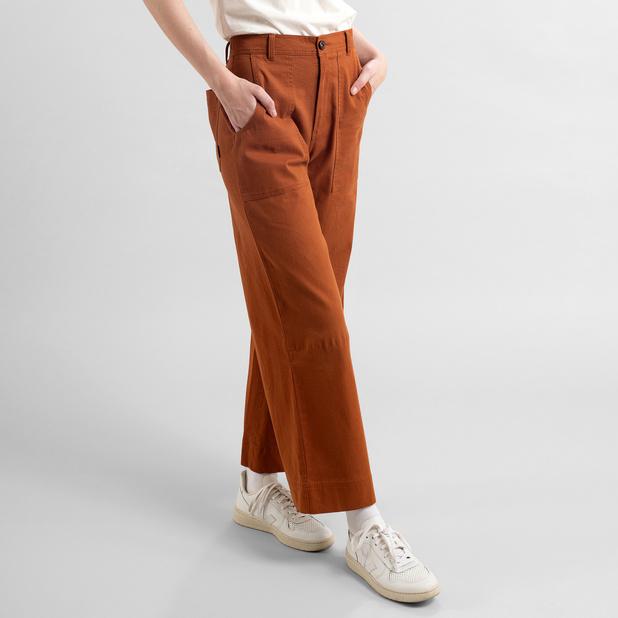 Dedicated - Pants Workwear Vara Mocha Brown REA 25%