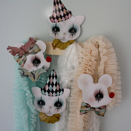 Dessin Design - Pappersfigurer clown mus REA 70%
