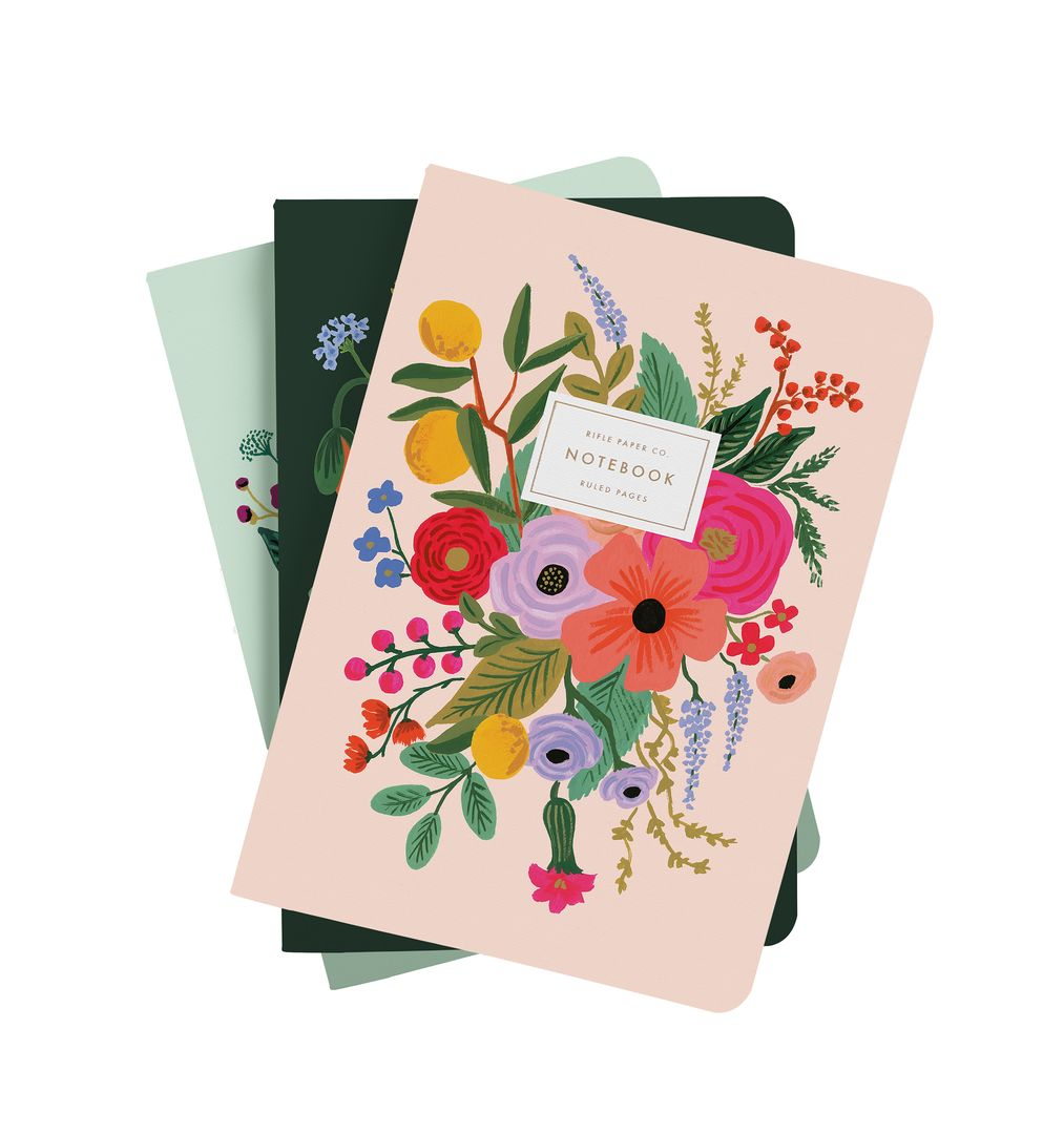 Rifle Paper Co - Set of 3 Garden Party Stitched Notebook Set