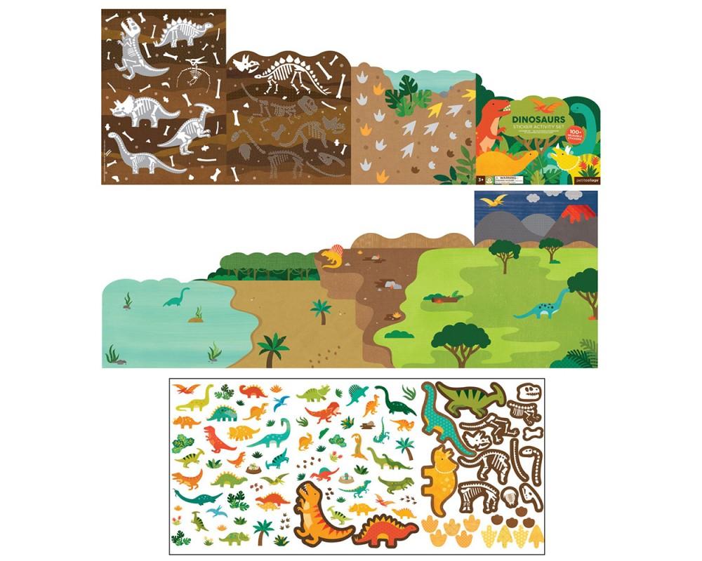 Petit Collage - Stickerset Dinosaurier