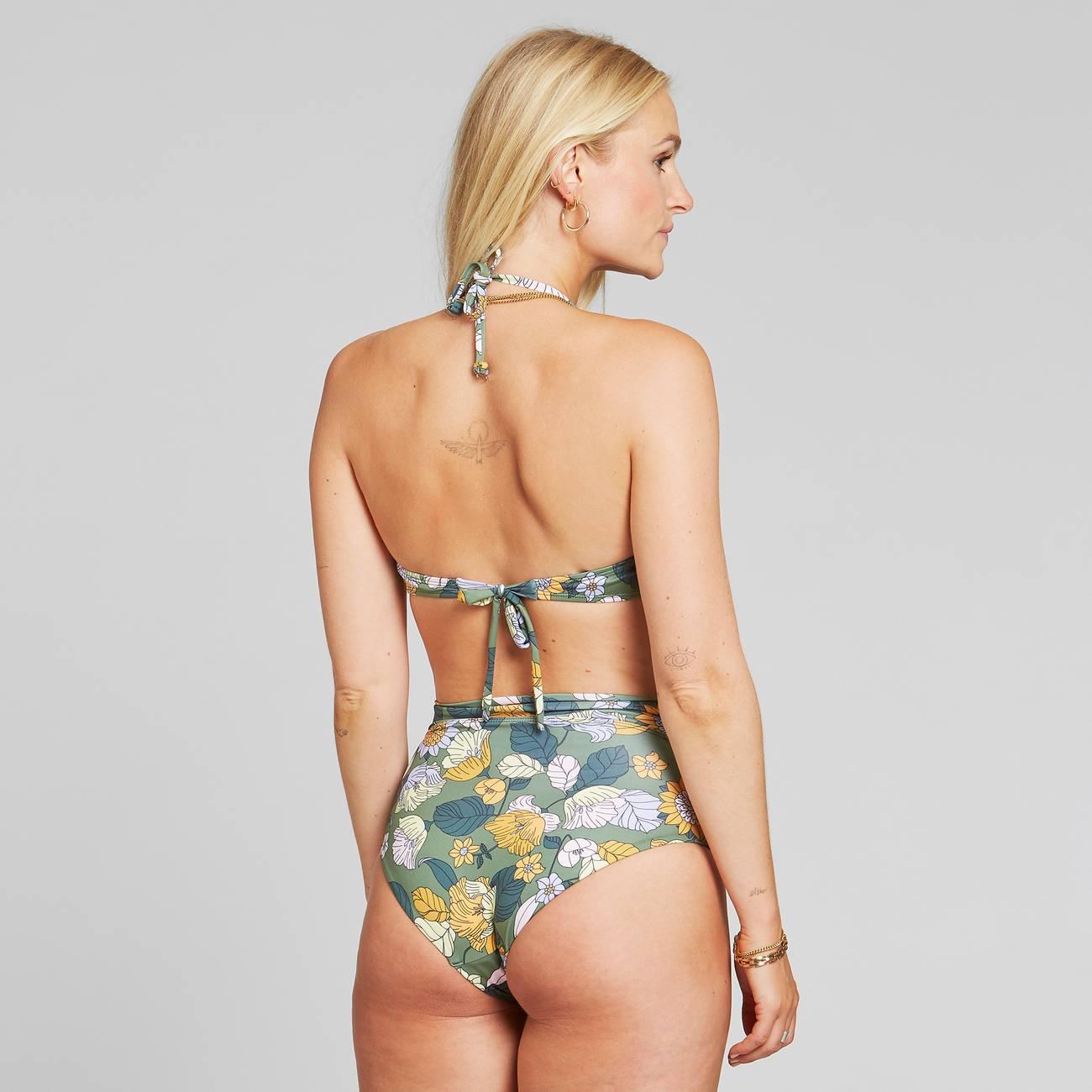 Dedicated - Bikini Top Kovik Seventies Floral Green