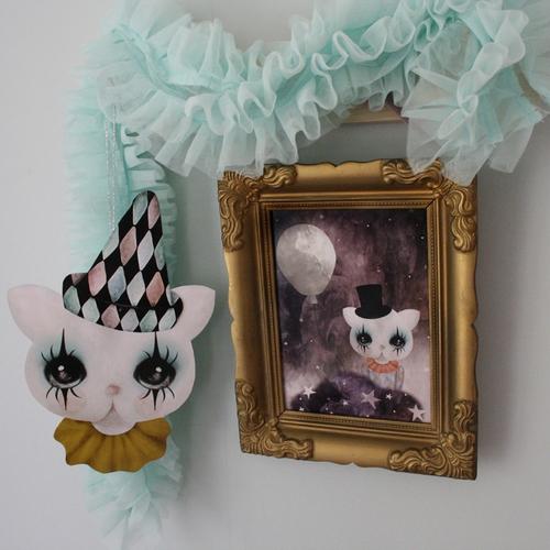 Dessin Design - Papperfigurer clown katt REA 70%