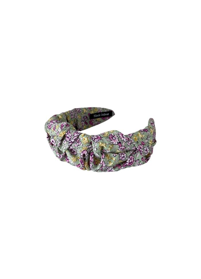 Black Colour - DIANA drape flower headband - Mint