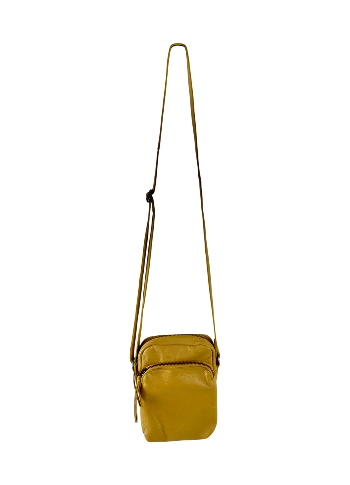 Black Colour - DENISE small leather purse Yellow