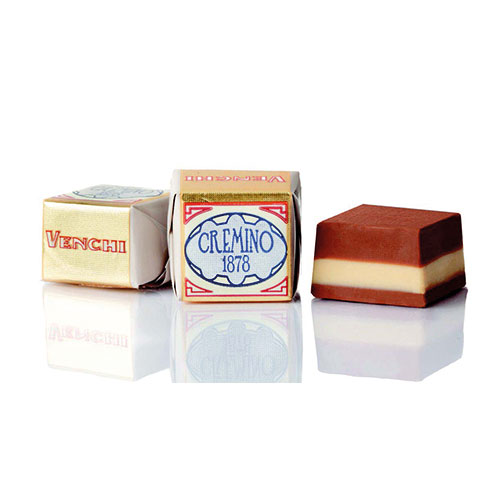 Venchi - Cremino pralin med vit mandelcreme och ljus gianduja
