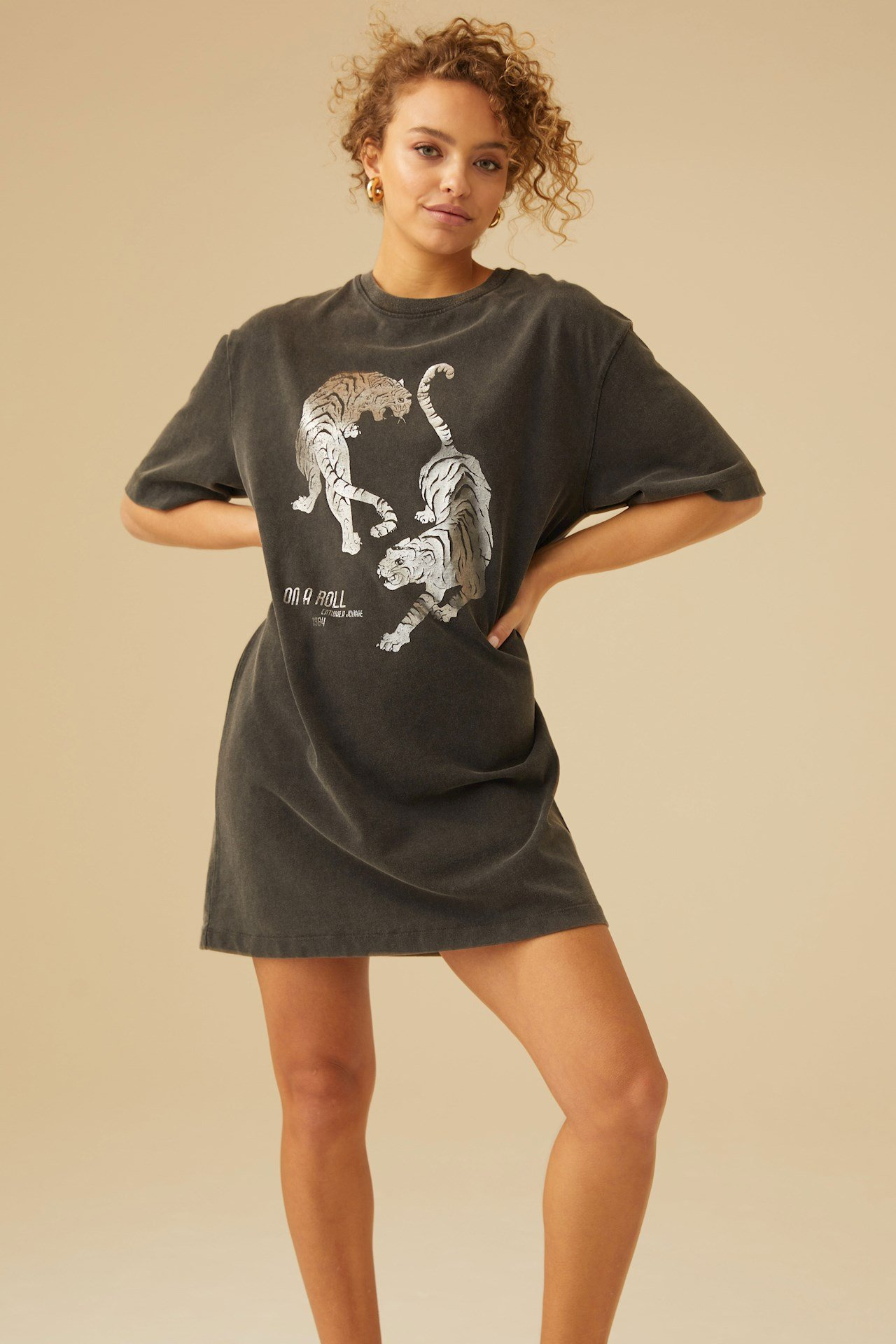 Catwalk Junkie - Dress Shiney Tiger