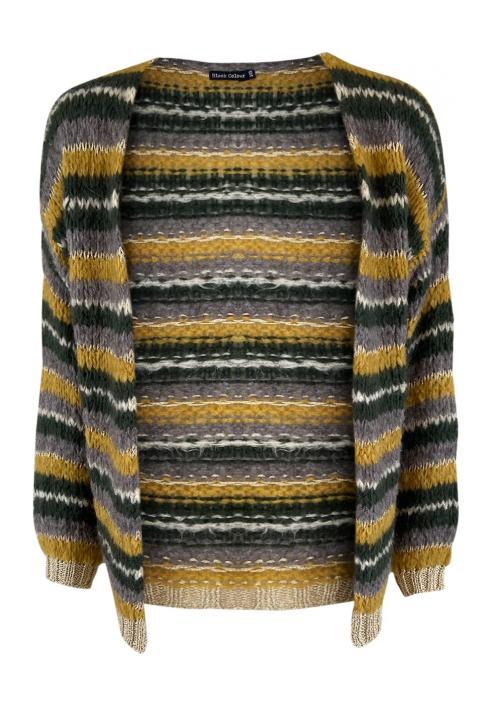 Black Colour - GAIL Lurex Striped Cardigan