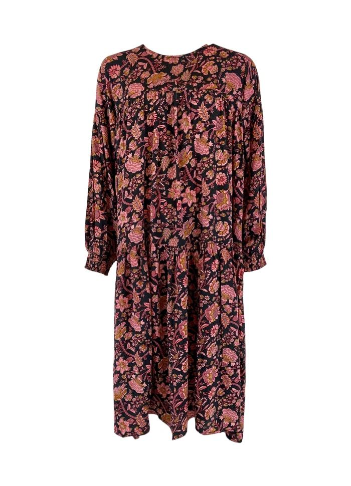 Black Colour - FÖRBOKA LUNA l/s maxi dress