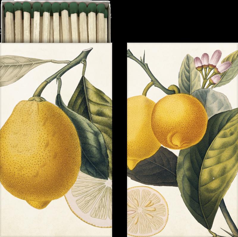 Sköna Ting - Tändsticksask - Citron