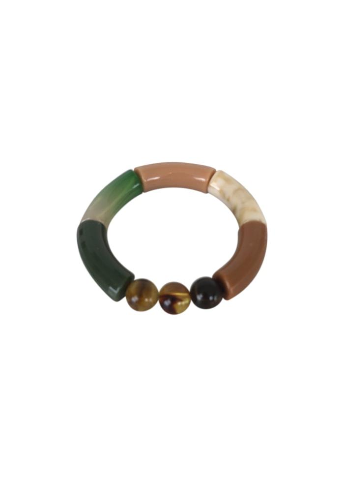Black Colour - FENJA tube bracelet grön