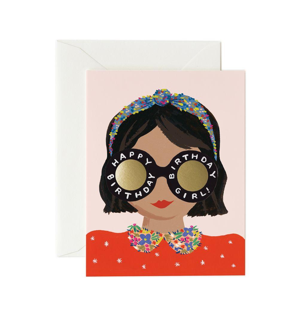 Rifle Paper Co - Vykort Headband Birthday Girl card
