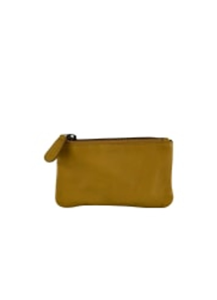 Black Colour - Mini Wallet yellow