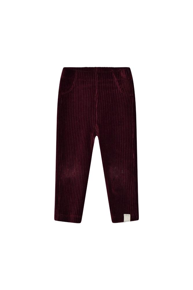 I Dig Denim - Hazel rib pants Bordeaux