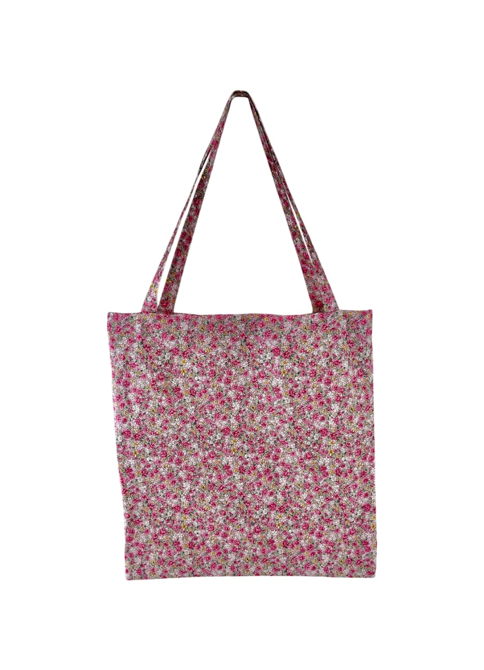 Black Colour - LULU cotton shopper - Blush blossom