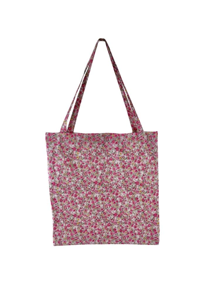 Black Colour - LULU cotton shopper - Blush blossom