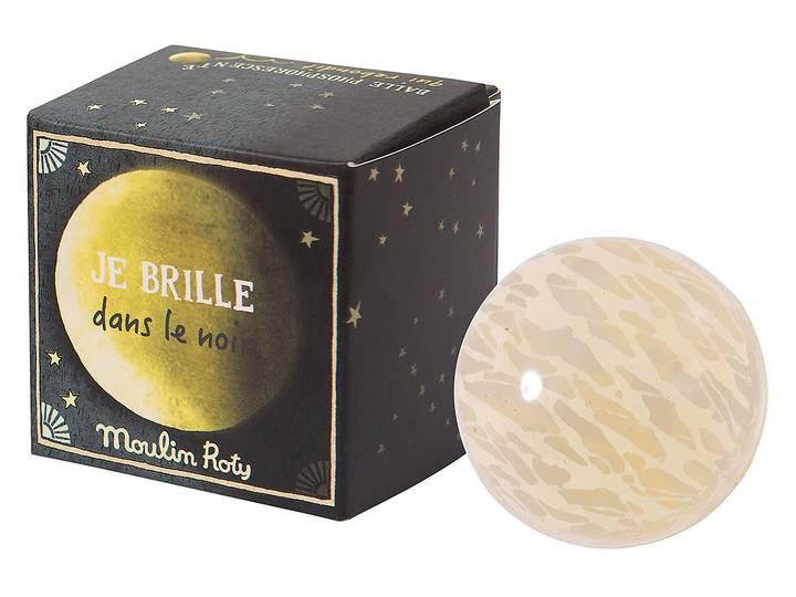 Moulin Roty - Studsboll måne självlysande