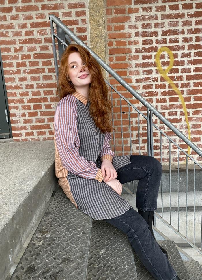 Black Colour - FÖRBOKA JANNA oversize patchwork shirt