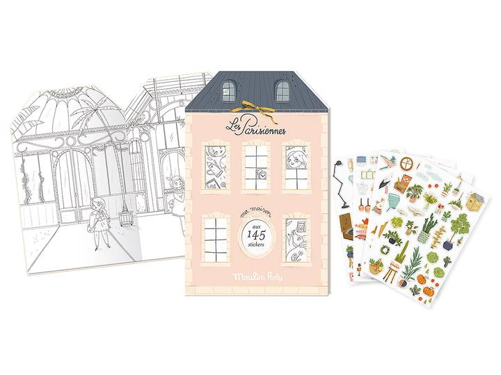 Moulin Roty - Bok 'Les Parisiennes' med stickers