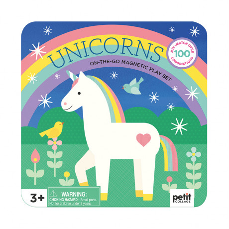 Petit Collage - Mix & Match magnetisk Unicorn