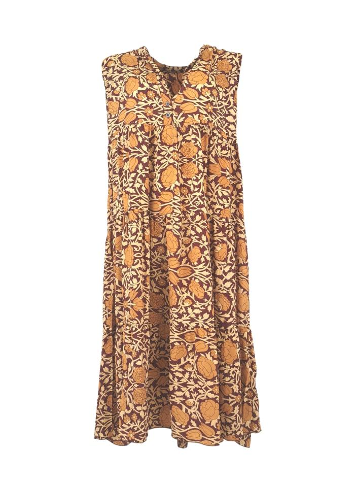 Black Colour - LUNA sleeveless boho dress Sienas bloom  REA 50%