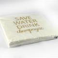 Mellow Design - Servetter vita med guldtext