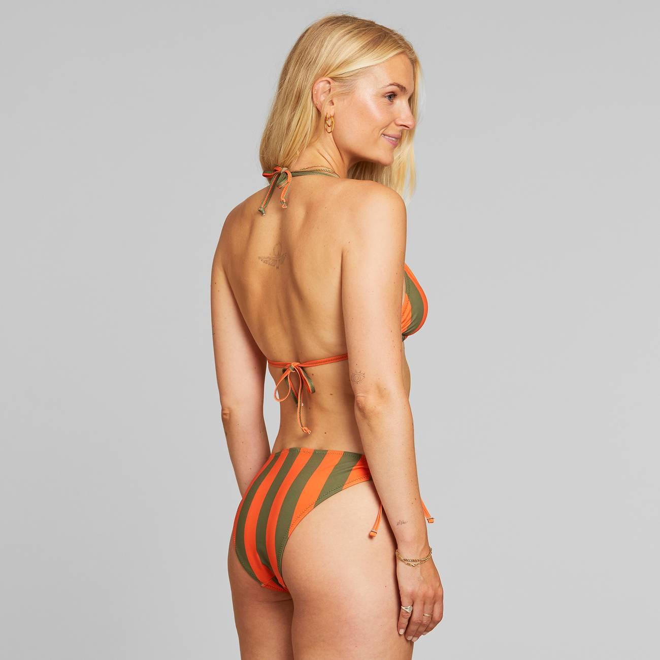 Dedicated - Bikini Underdel Odda Big Stripes Orange