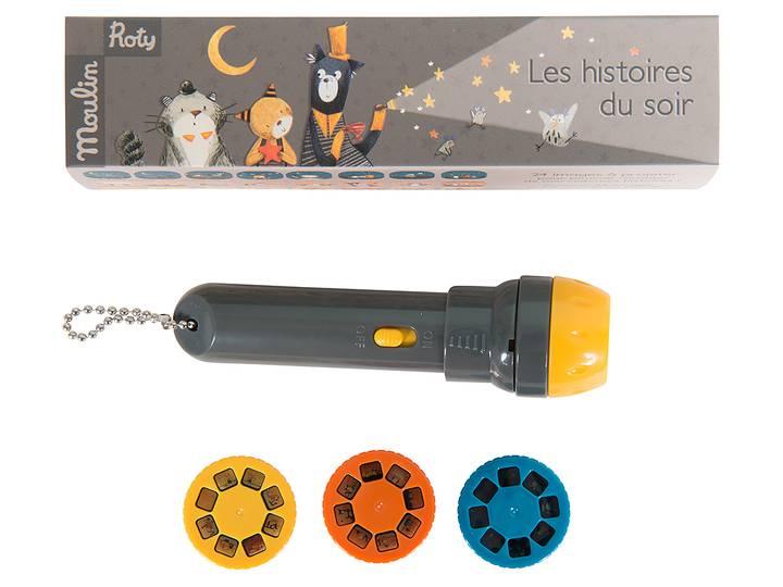 Moulin Roty - Ficklampa med berättelser 'Les Moustaches'