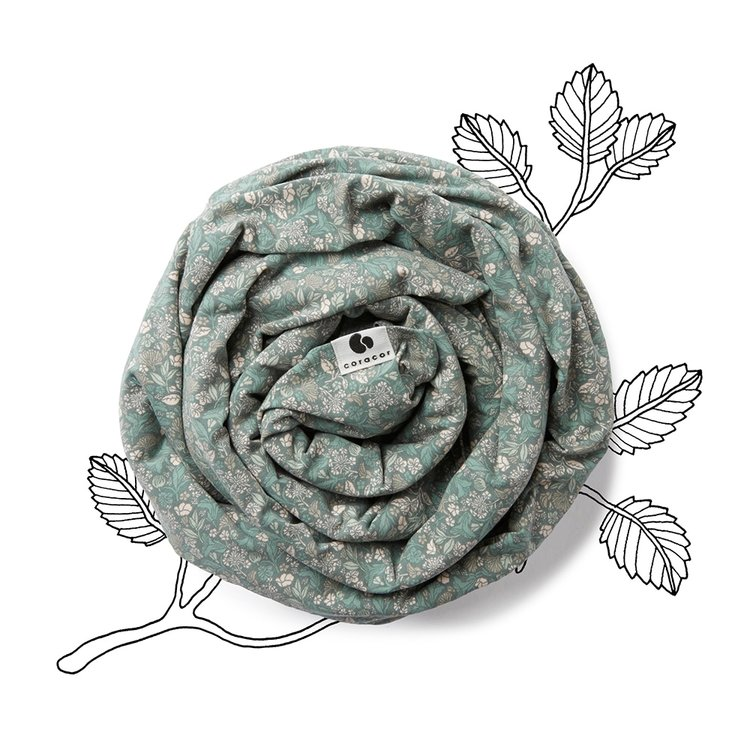 Coracor - Tiny Flower Green Bärsjal