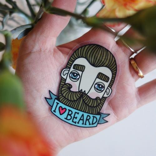 BahKadisch - Klistermärke I love beard