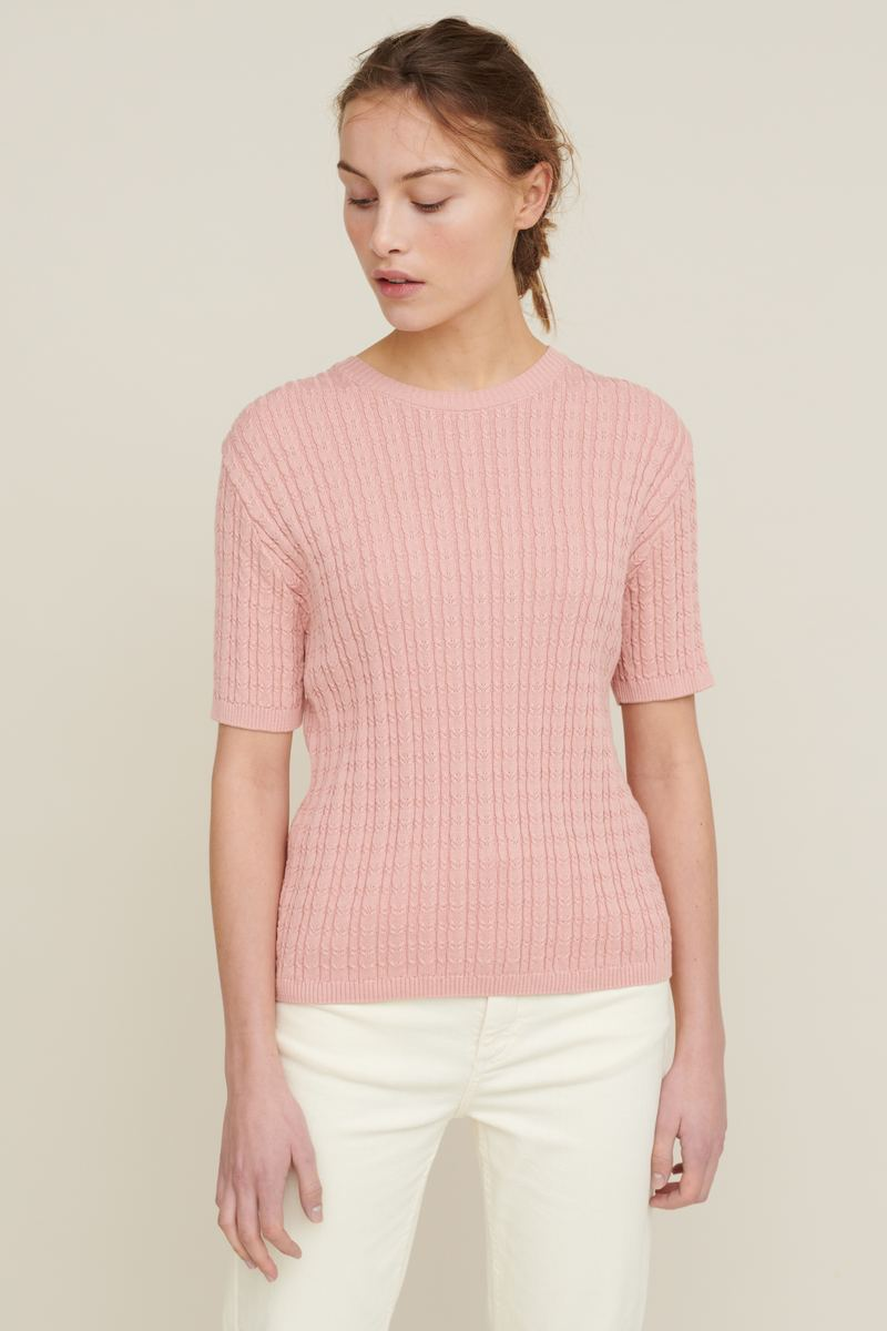 Basic Apparel - Aline ss sweater beige