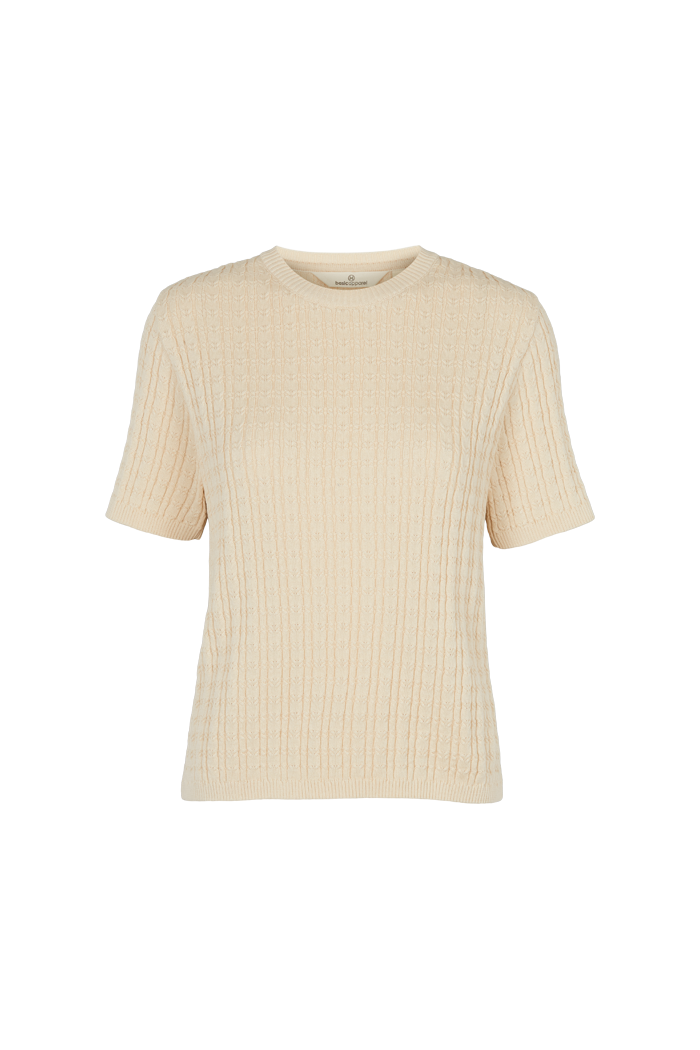 Basic Apparel - Aline ss sweater beige