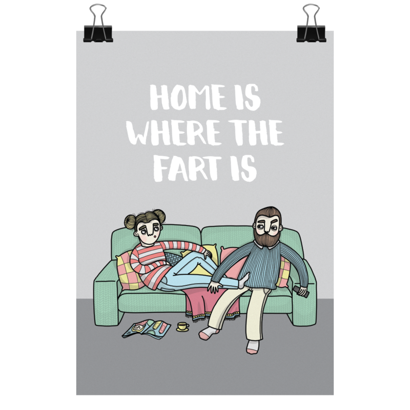 Bahkadisch - Print - Home is where the fart is