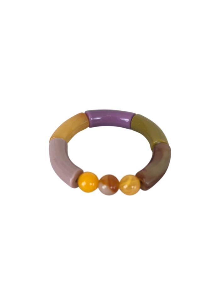Black Colour - FENJA tube bracelet lila