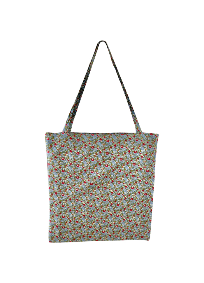 Black Colour - LULU cotton shopper - Olive blossom