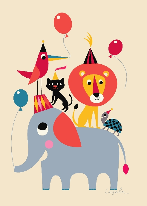 OMM Design - Poster Animal Party 50x70 cm