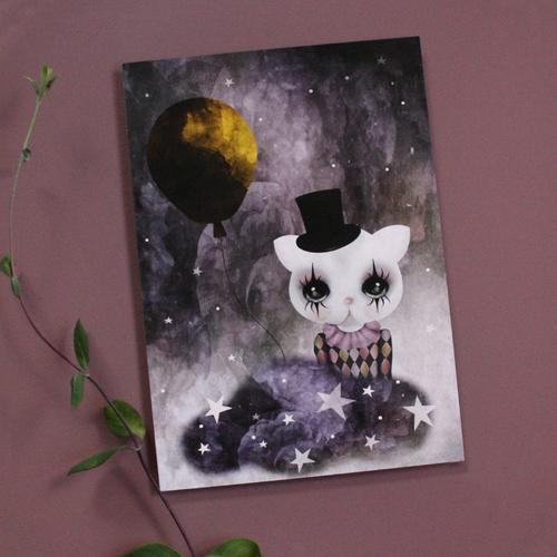 Dessin Design - Mini Poster Clown Katt REA 70%