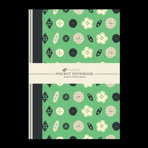 Anteckningsbok - Grön m. knappar