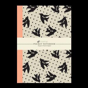 Anteckningsbok - Fågelknappar