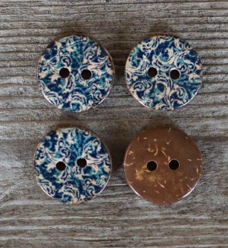 Kokosknapp - Blåmelerad