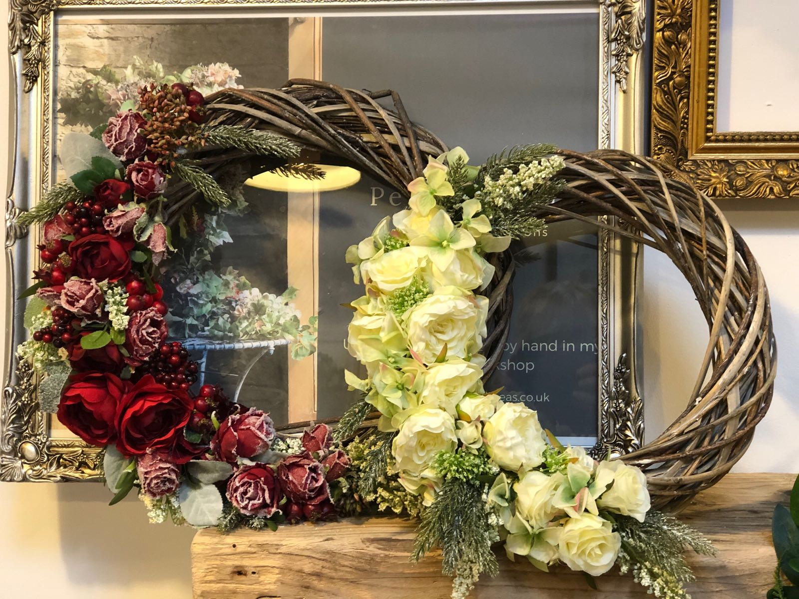 Petals and Peas Red Berries Wreath 40cm approx