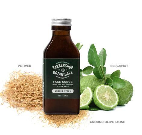 Barbershop Botanicals - Smoked Citrus Face Scrub  100ml