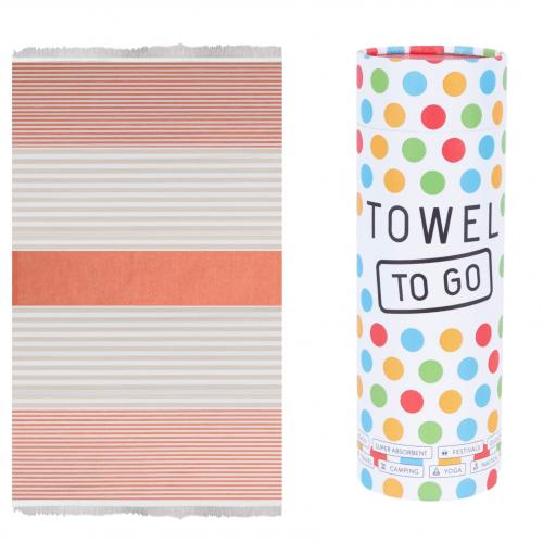 Towel to Go - Hammam towel in Orange/Beige