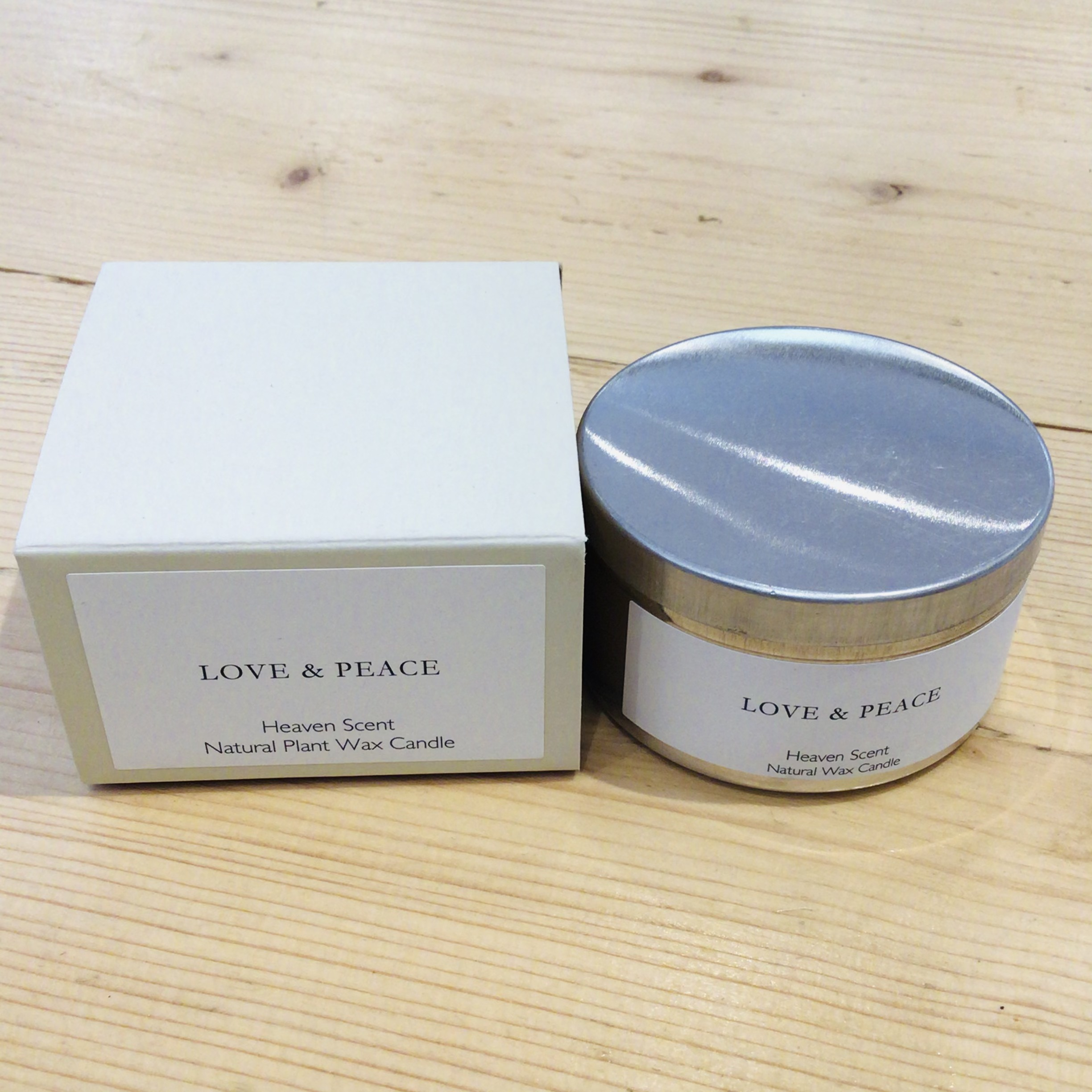 Heaven Scent - Love & Peace -Travel Candle Tin, 100ml
